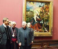 Pfarrer Meiser Stuppach mit Begleitung